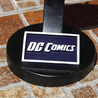 Small DC  Comics Logo Plaque Rectangle 3D Printing 188224