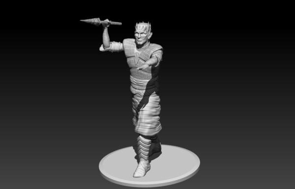 Medium Night King Pole Pose 3D Printing 188423