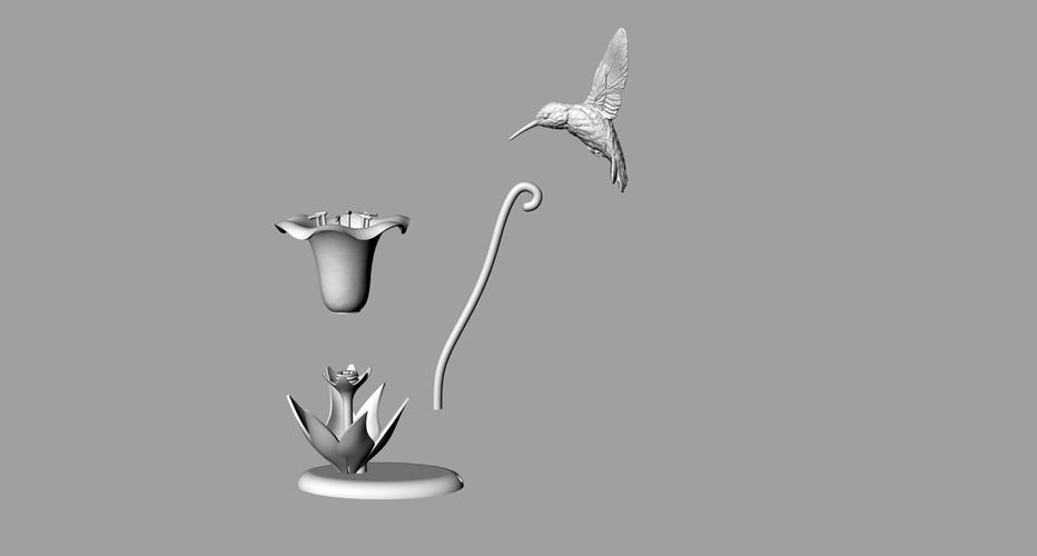 Hummingbird Lamp 3D Print 18850