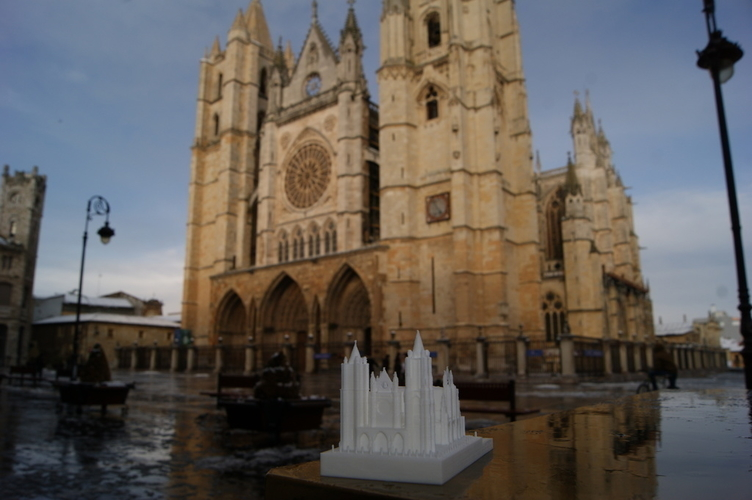Leon Cathedral 3D Print 188562