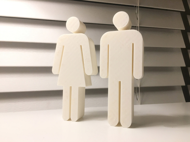 Bathroom Symbols Figurines 3D Print 188599