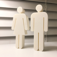 Small Bathroom Symbols Figurines 3D Printing 188599