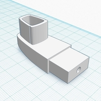 Small Alumax Shower Arm Bracket 3D Printing 188601