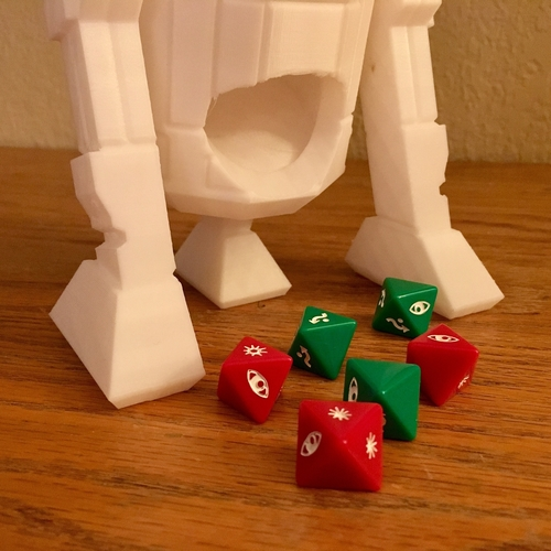 R2-D2 Low Poly Dice Tower 3D Print 188639