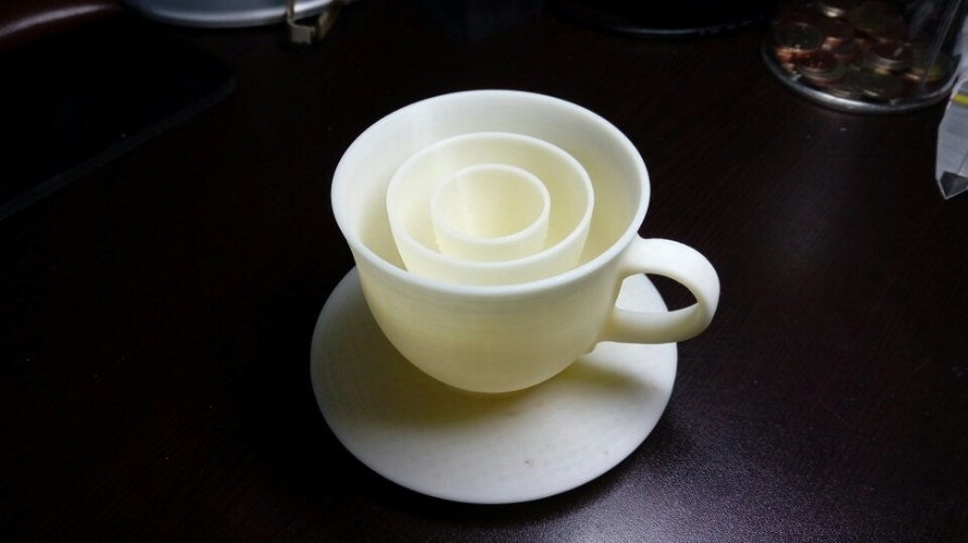 coffee set LED candle mount 3D Print 188713