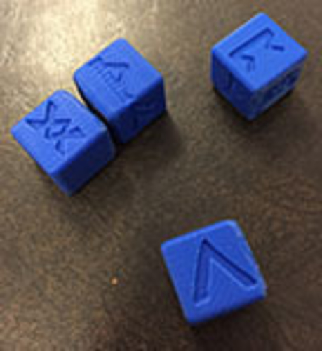 6 Sided Norse Runic Dice Set of 4 3D Print 188725