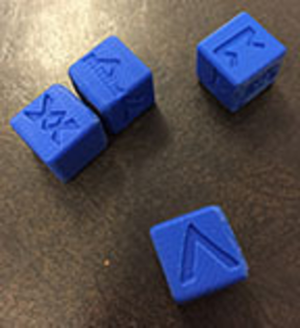 Medium 6 Sided Norse Runic Dice Set of 4 3D Printing 188725