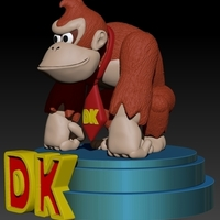 Small Donkey Kong Country SuperNes 3D Printing 188728