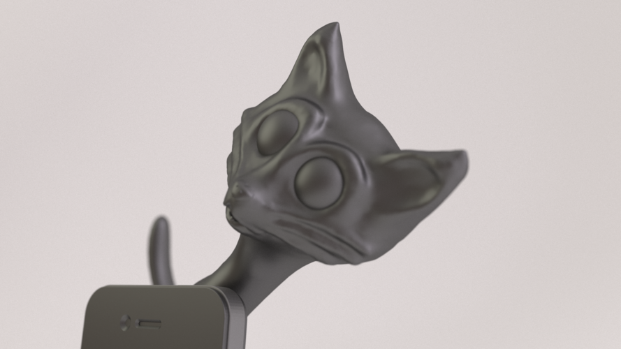 Cat Phone Stand 3D Printing 18881
