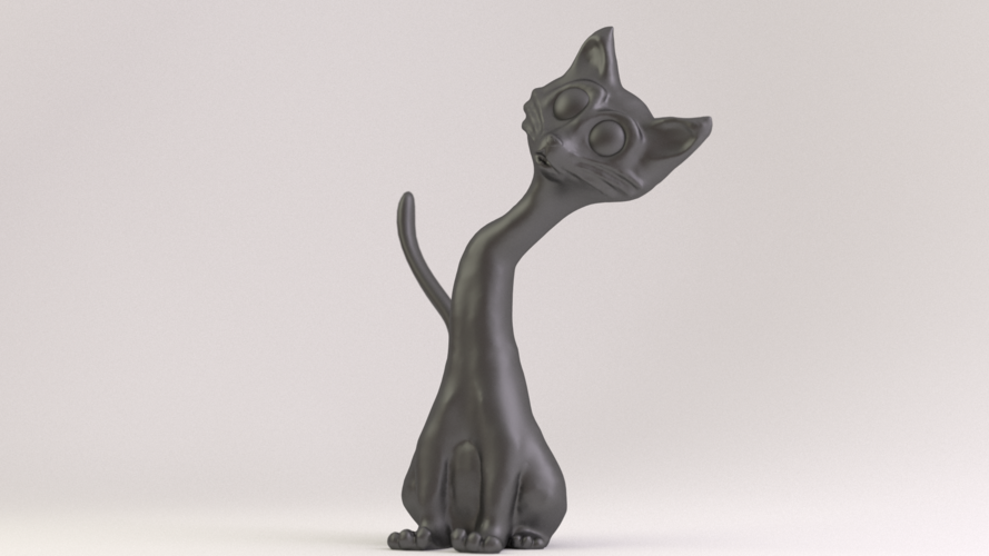 Cat Phone Stand 3D Printing 18882