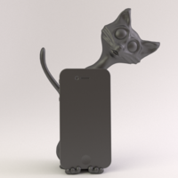 Small Cat Phone Stand 3D Printing 18883