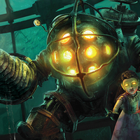 Small Bioshock Big Daddy and Little Sister 3D Printing 188912