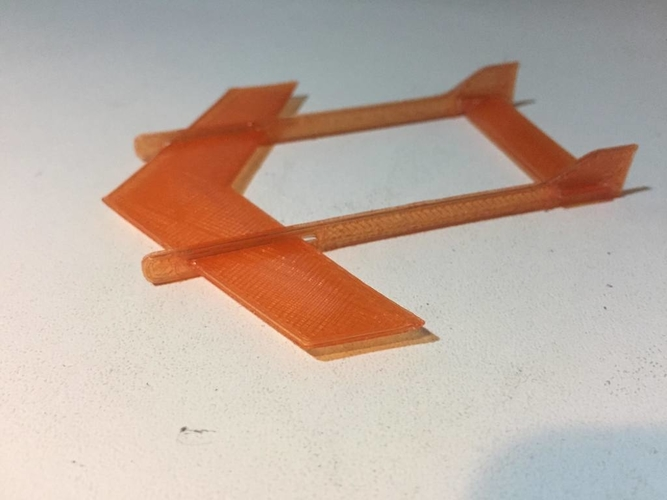 Plane TOY 4 (fast/simple)- twin boom - 4 parts 3D Print 188916