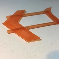 Small Plane TOY 4 (fast/simple)- twin boom - 4 parts 3D Printing 188916