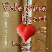 Small Valentine Heart Lanyard Bead 3D Printing 189032