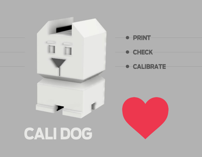 Cali Dog - The Calibration Dog 3D Print 189095