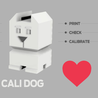 Small Cali Dog - The Calibration Dog 3D Printing 189095