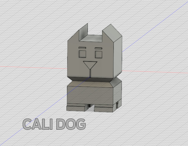 Cali Dog - The Calibration Dog 3D Print 189096