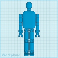 Small Toy Figurine featuring moving body parts with Accessories 3D Printing 189121