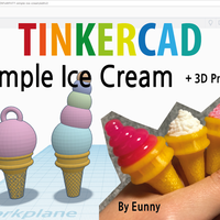 Small Simple Ice Cream, Miniature, 3D pen 3D Printing 189230