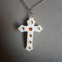 Small cross box pendant (remix) 3D Printing 189288
