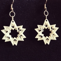 Small Earring star 3D Printing 189386