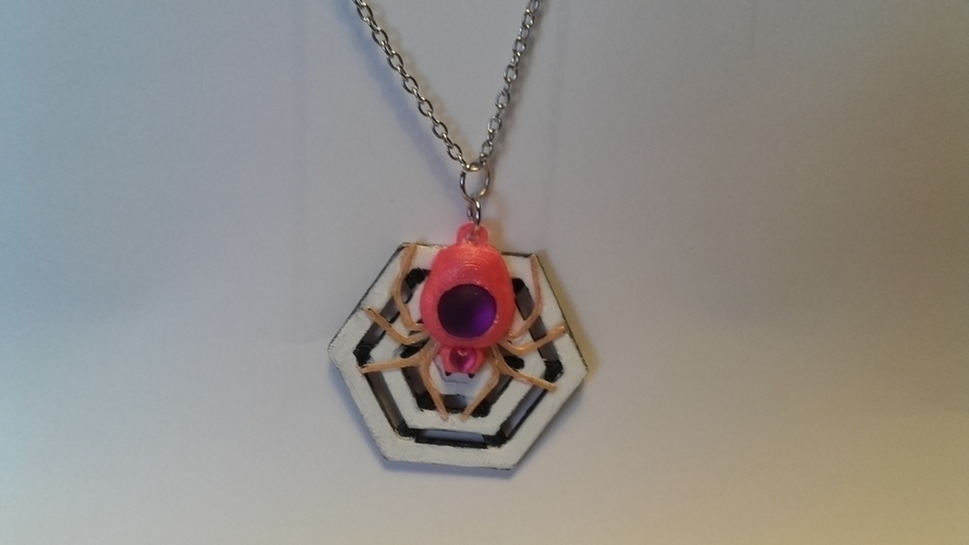 Spider set and pendant remix 3D Print 189414