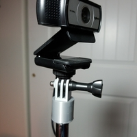 Small GoPro Mic Stand Adapter 3D Printing 189528
