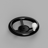 Small Hand Wheel 3D Printing 189542