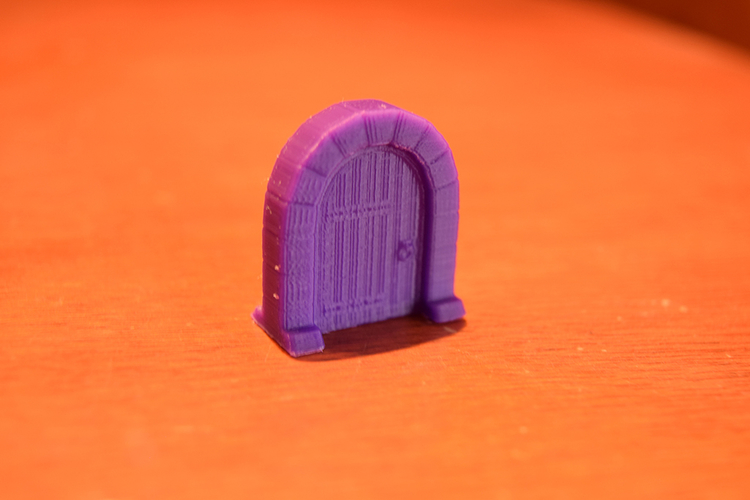 Medieval Arc Door Miniature 3D Print 189556