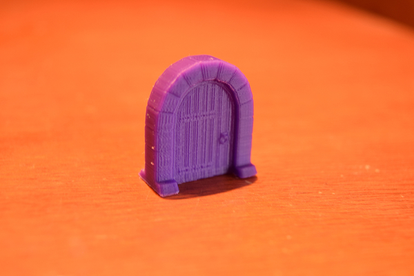 Medium Medieval Arc Door Miniature 3D Printing 189556