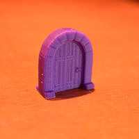 Small Medieval Arc Door Miniature 3D Printing 189556