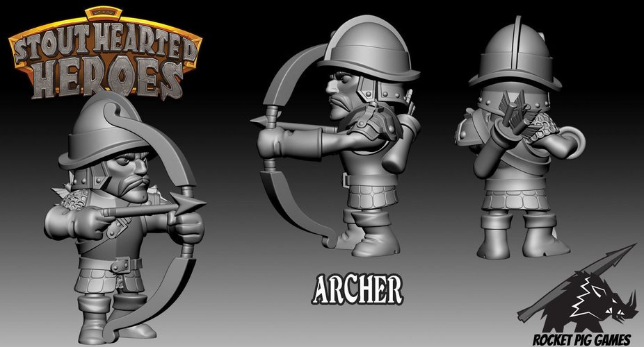 Rocket Pig Games Castle Guard Archer 3D Print 189638