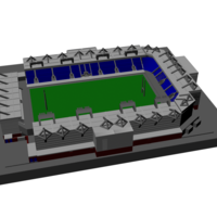 Small Warrington Wolves - Halliwell Jones Stadium 3D Printing 189642