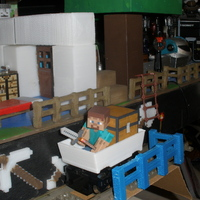 Small Mine Cart for LEGO Train scale to Minecraft toy Steve. 3D Printing 18970
