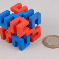 Small Superstrings puzzle 3D Printing 189701