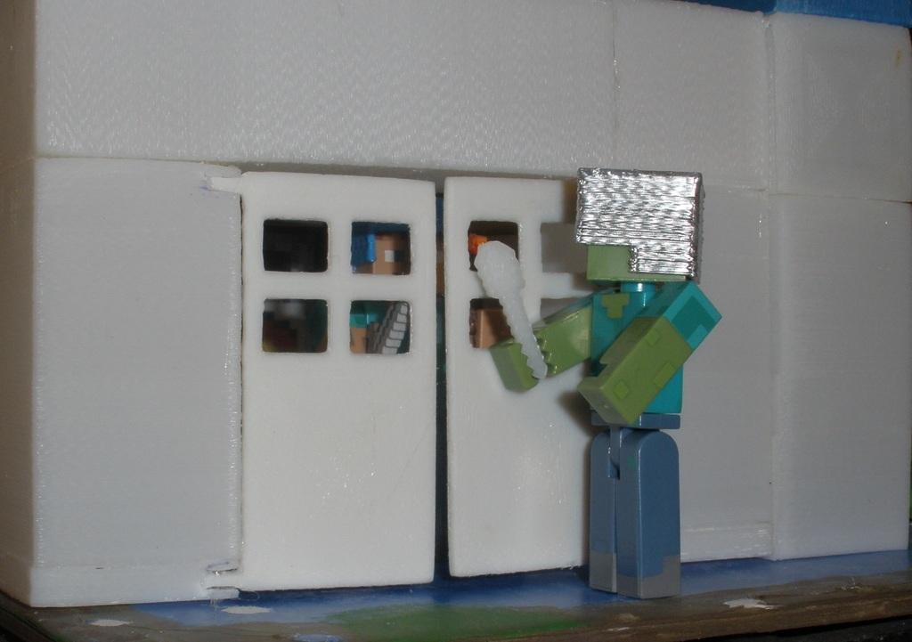 & 3D Printed Minecraft Wooden Door by David Mc | Pinshape