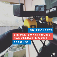 Small Simple Smartphone Handlebar Mount 3D Printing 189758