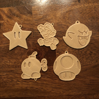 Small Mario Bros Keychains 3D Printing 189772