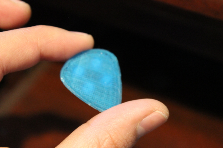 1mm-Guitar pick lego compatible grip  texture  3D Print 189882