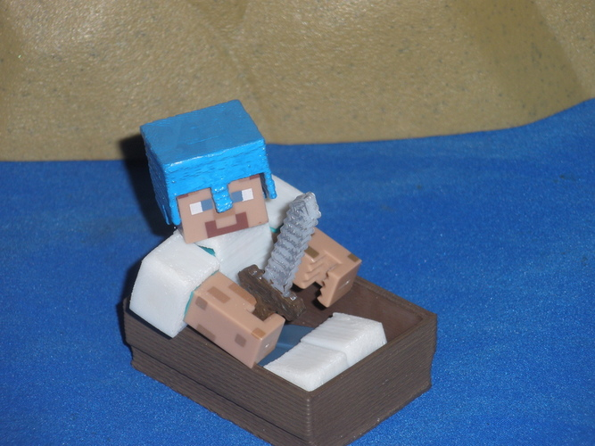 Boat from Minecraft scaled to Minecraft figures sold in stores 3D Print 18990