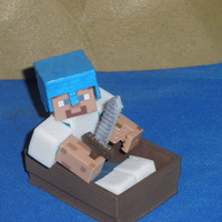 Small Boat from Minecraft scaled to Minecraft figures sold in stores 3D Printing 18990