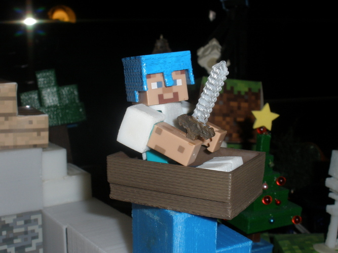 Boat from Minecraft scaled to Minecraft figures sold in stores 3D Print 18992
