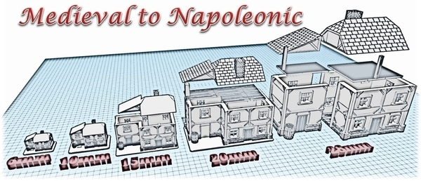 Medium House 1 - Wargame medieval to napoleonic 3D Printing 189923