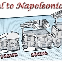 Small House 1 - Wargame medieval to napoleonic 3D Printing 189923