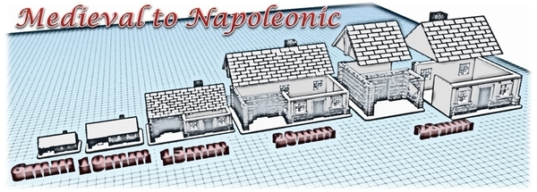 Medium House 2 - Wargame medieval to napoleonic  3D Printing 189924