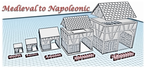 Medium House 3 - Wargame medieval to napoleonic 3D Printing 189926