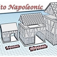Small House 3 - Wargame medieval to napoleonic 3D Printing 189926