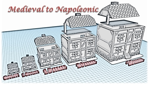 Medium House 4 - Wargame medieval to napoleonic 3D Printing 189927
