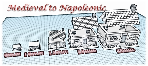 Medium House 5 - Wargame medieval to napoleonic 3D Printing 189928